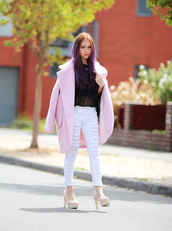 The Pink Coat - Chloe Ting - Melbourne Australia Fashion ...