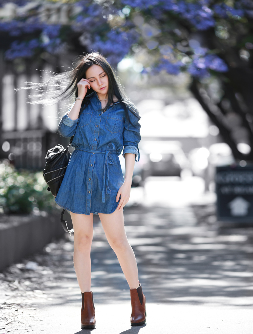 Denim Dress - Chloe Ting - Melbourne Fashion Blogger